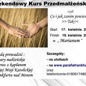 Plakaty na Kurs dla Narzeczonych 15